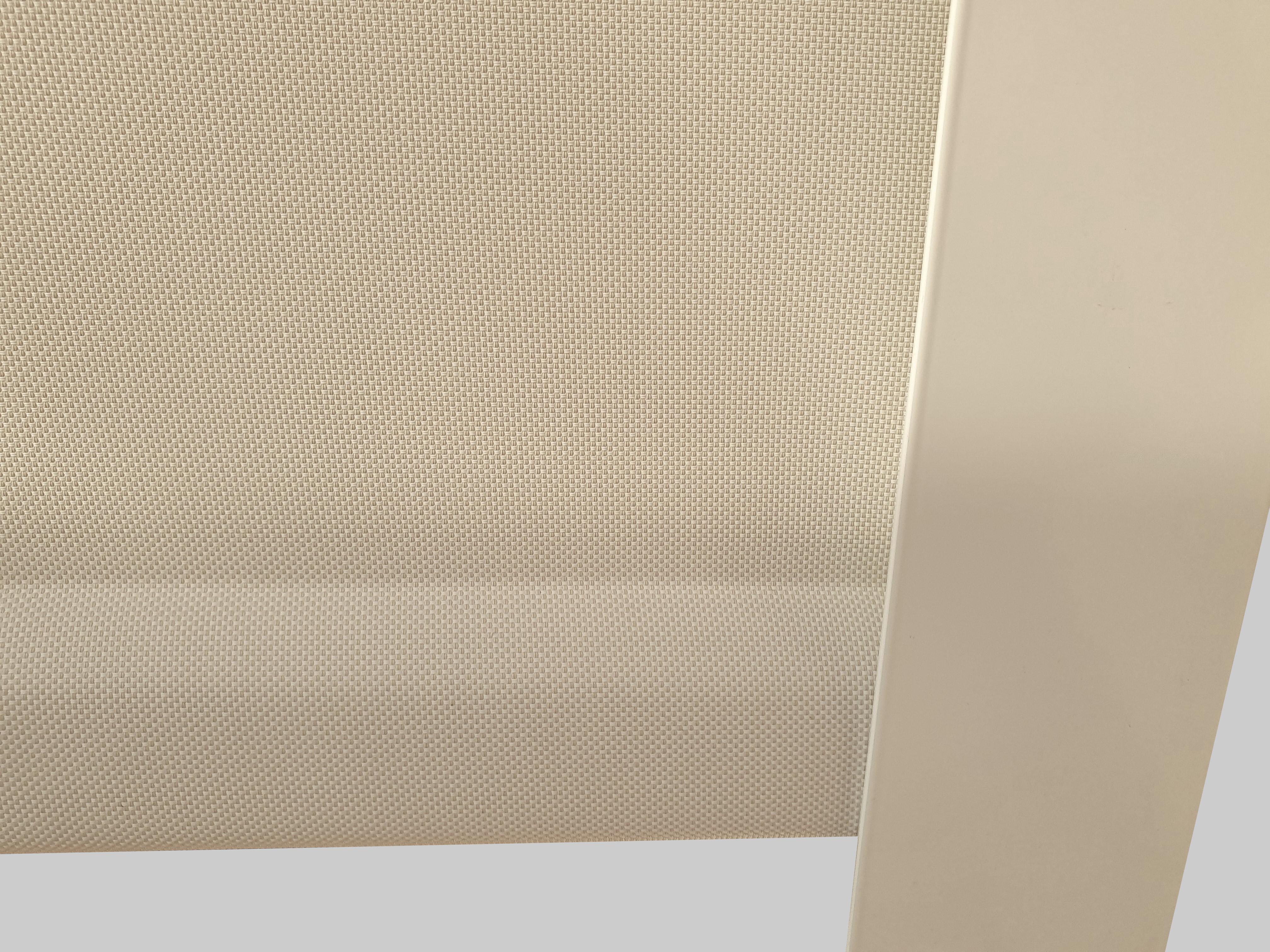 birds eye view fabric wrapped hem bar on kurolok rl system with angle