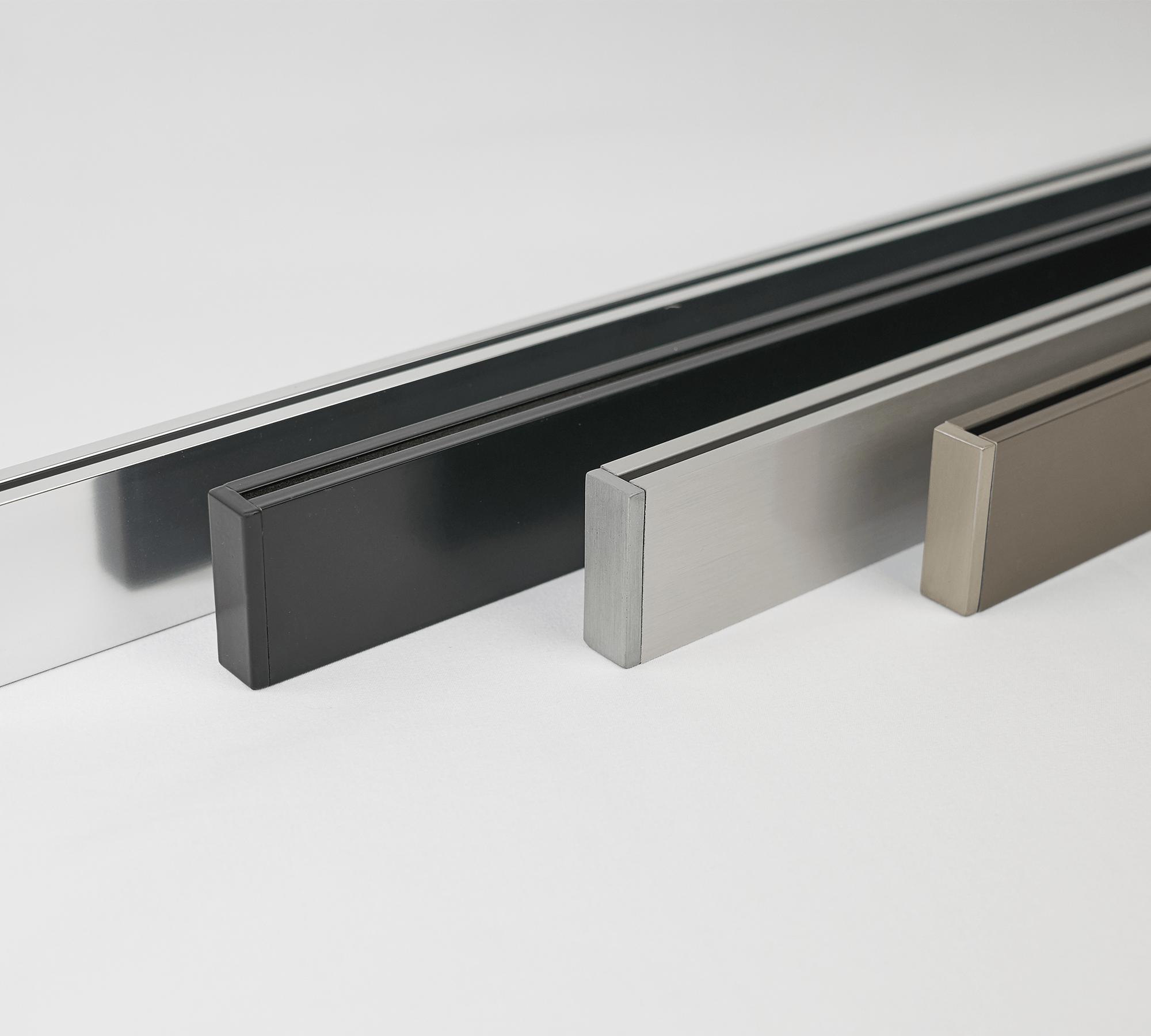 luxury slim rectangular hem bar in various colour ways